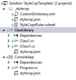 Visual Studio 2017 StyleCop Analyzers solution files