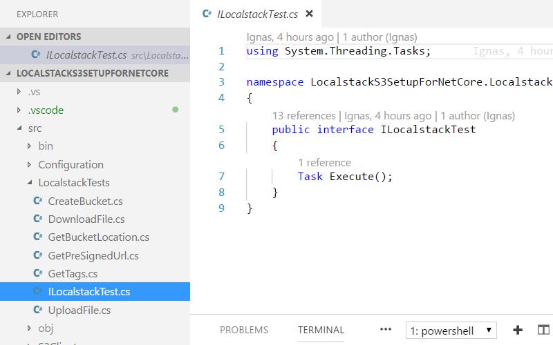 LocalStack S3 setup for  net core development - Ignas Sakalauskas