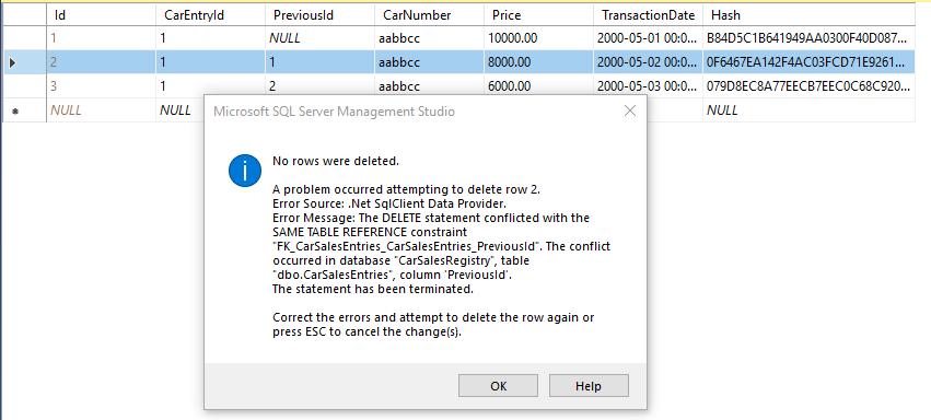 FK constraint error