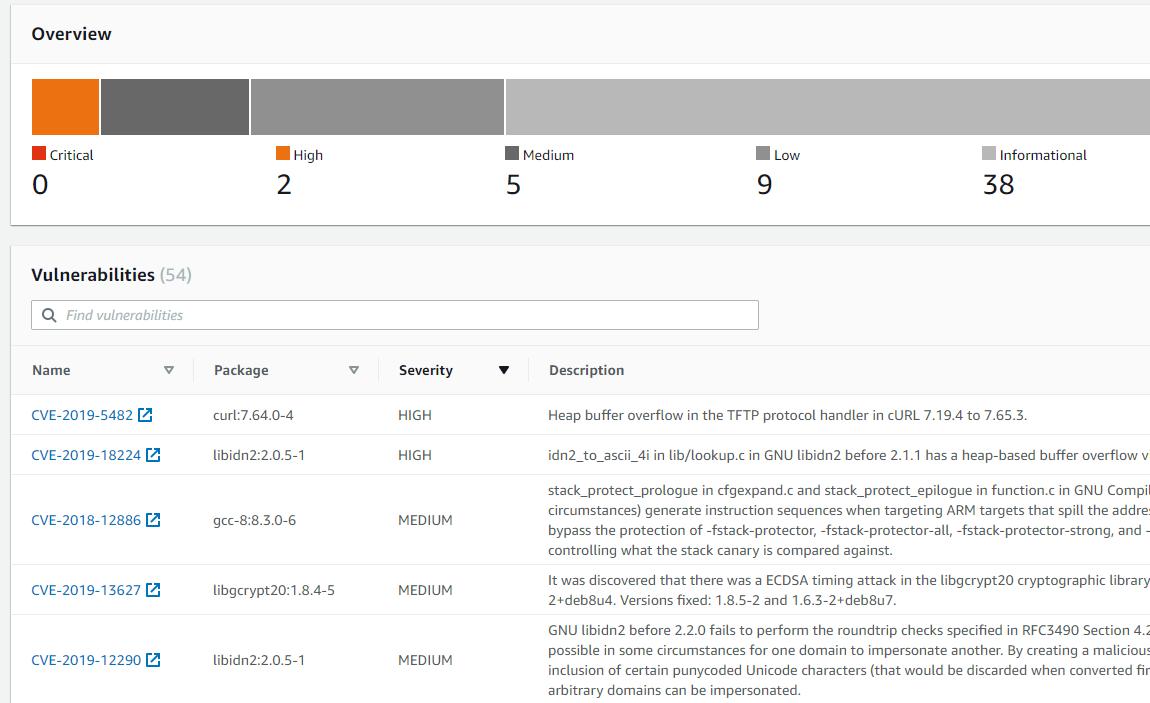 Docker image vulnerabilities - .NET Core 3.1 Debian 10